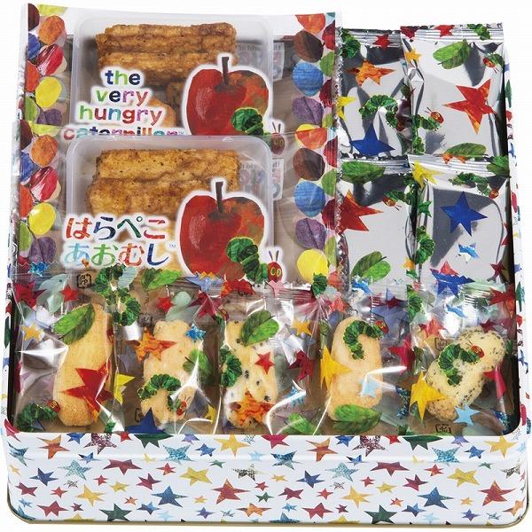 絵本「はらぺこあおむし」をモチーフにしたお菓子のアソートギフトです。 【9/11 2時迄ポイント5倍】景品 現物 はらぺこあおむし おやつアソート HA-15 お返し 引き出物 結婚内祝い プレゼント 2021