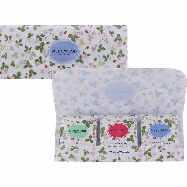プチギフトに嬉しい3種の紅茶入 景品 現物 ウェッジウッド ワイルド ストロベリー ティーバッグ お金を節約 お返し 結婚内祝い 2021 WSN-5TB 引き出物 年中無休 プレゼント