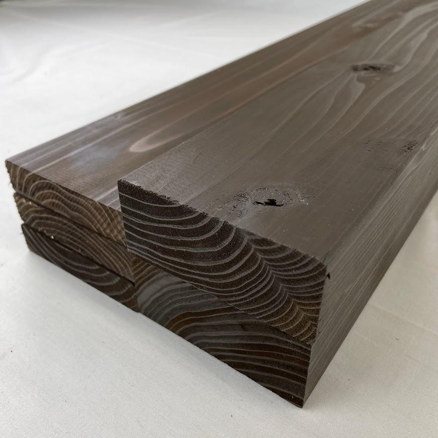outlet-191 アウトレット塗装杉 ダークブラウン マーケット 長さ約600mmツーバイ材2本+ワンバイ材3本セットカット不可38x89 38×89 お買得 19x89 工作 現品限り DIY 19x89