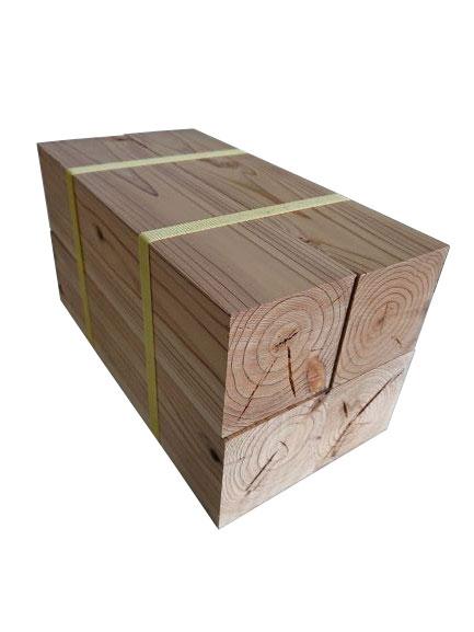 天然杉のブロック材 お金を節約 小物製品等に 海外限定 杉ブロック 4個セット厚みx幅x長さ 立方体90mm×90mm×300mm