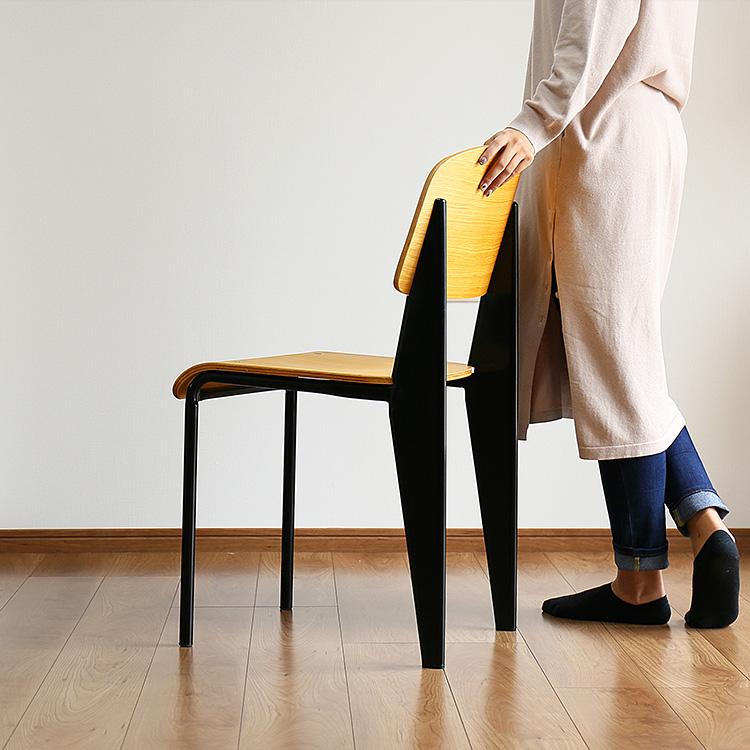 ジャン プルーヴェ デザイナーズチェア ダイニングチェア デスクチェア リプロダクト チェア 背もたれ 椅子 オーク ブルックリン 西海岸 アンティーク 蔵 Standard 家具 スタンダードチェア 木製 おしゃれ デザイナーズ インテリア シンプル リビング 超激安特価 Chair 北欧