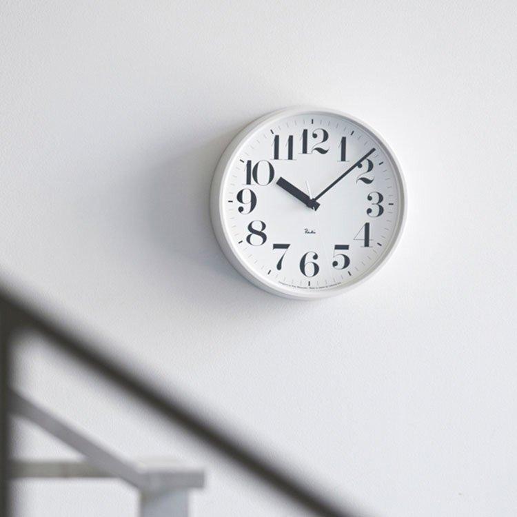 【送料無料・一部地域を除く】電波時計[リキ スティール クロック]数字あり Lemnos[レムノス]WR08-24【スイープ 掛け時計 壁掛け時計 時計 壁掛け 太文字 ビンテージ 北欧 デザイナーズ 渡辺力 リキクロック かわいい おしゃれ 新築 新生活 新築祝い】