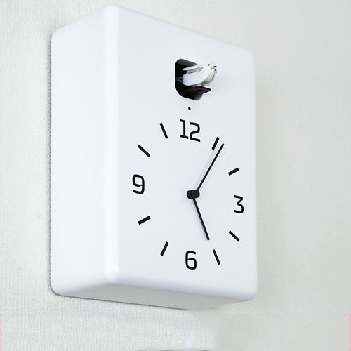 鳩時計 Yuichi Nara LC10-16 掛け時計 壁掛け時計 壁 時計 掛時計 クロック ウォールクロック WALLCLOCK インテリア雑貨 デザイン【かわいい おしゃれ 壁掛け時計 モノトーン ギフト プレゼント 彼氏 彼女 新生活】