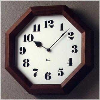掛け時計 RIKI CLOCK 八角の時計 WR11-01 【壁掛け時計 壁 時計 掛時計 クロック ウォールクロック インテリア雑貨 デザイン 渡辺 力 かわいい おしゃれ プレゼント 新生活 誕生日 新築祝い 敬老の日 ギフト】