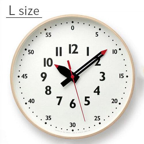 【☆】アナログ時計 ふんぷんくろっく[funpun clock] Lサイズ YD14-08L【タカタレムノス アクトワークス アナログ時計 壁掛け時計 おしゃれ 時計 壁掛け ナチュラル シンプル 北欧 リビング 子供部屋 子ども部屋 引越し祝い 木製 新生活】