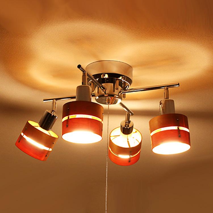 LED照明 シーリングライト スポットライト 4灯 レダカイ リモート Leda X Remote 【照明器具 4連 LEDライト LEDシーリング 天井照明 リビング照明 リモコン リモコン照明 和室 おしゃれ かわいい リビング用 居間用 電気 間接照明 新生活】