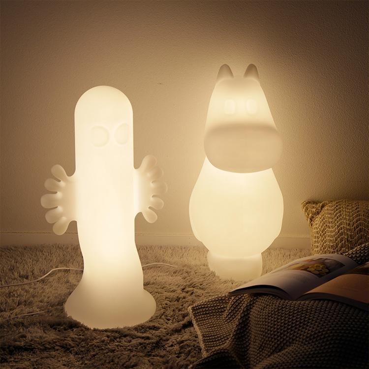 ムーミン ニョロニョロ ライト Mサイズ 照明 間接照明 フロアスタンド フロアランプ フロアライト LED リビング用 ダイニング用 子供部屋 寝室 おしゃれ 北欧 シンプル 可愛い ベッドサイド スタンドライト ルームライト】