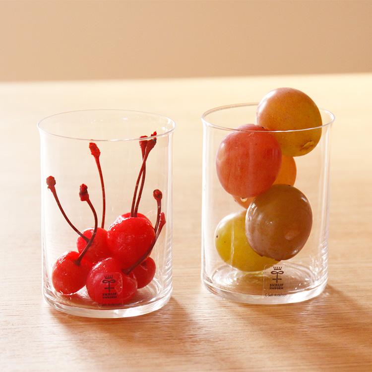 グラス SKRUF スクルーフ Ponny Drinking Glass グラス2個セット【ガラス コップ セット ペア キッチン 食器 キッチン雑貨 シンプル おしゃれ 可愛い かわいい 北欧 スウェーデン 雑貨 ギフト 結婚祝い 引越し祝い 女性 新生活】