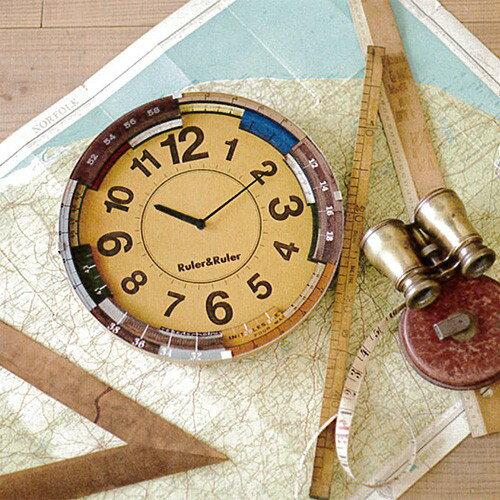 【送料無料・一部地域を除く】電波時計 ルーラールーラー CL-9584 インターフォルム 【掛け時計 壁掛け時計 おしゃれ 時計 壁掛け 雑貨 北欧  ウォールクロック レトロ 壁掛け時計 プレゼント 誕生日 新築祝い】