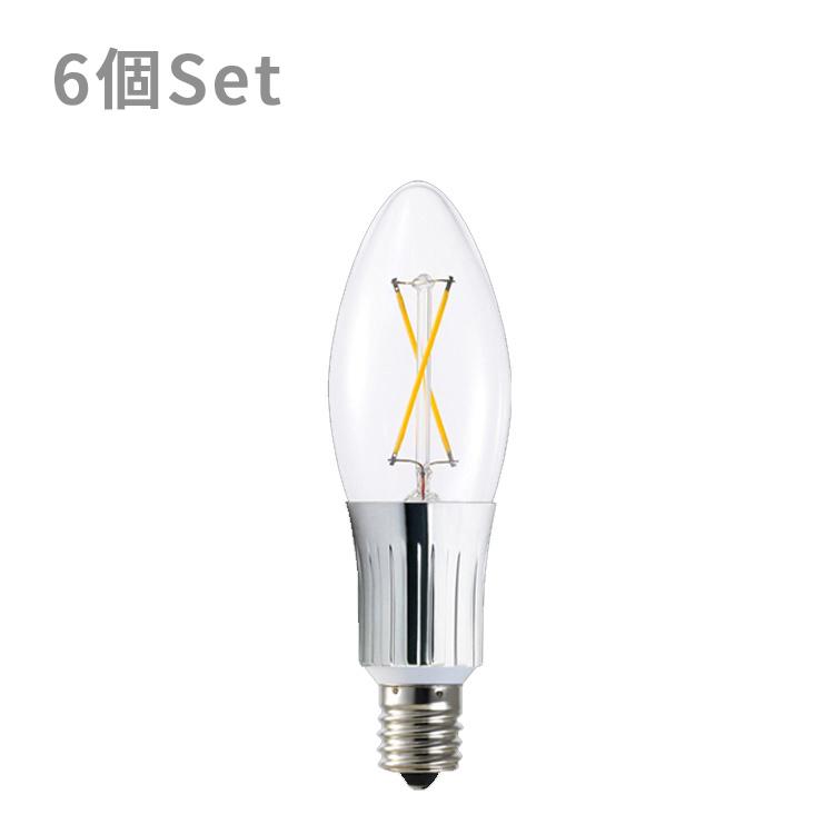 【LED電球 262lm E17クリア 6球セット】