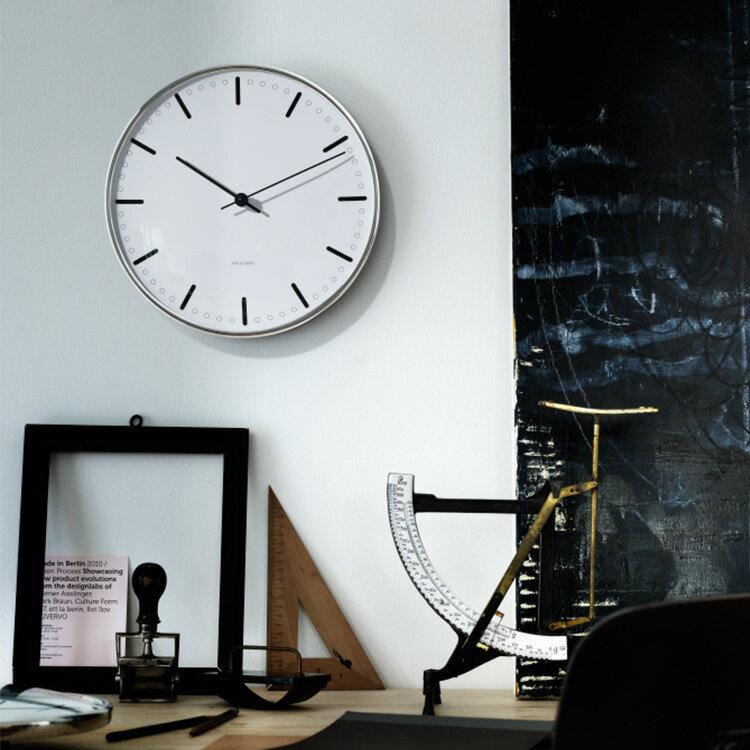 掛け時計 シティーホール CITYHALL アルネヤコブセン ARNE JACOBSEN 290mm【壁掛け時計 デザイン モダン シンプル デンマーク ローゼンダール 時計 おしゃれ 可愛い かわいい 北欧 インテリア プレゼント 新生活 新築祝い】