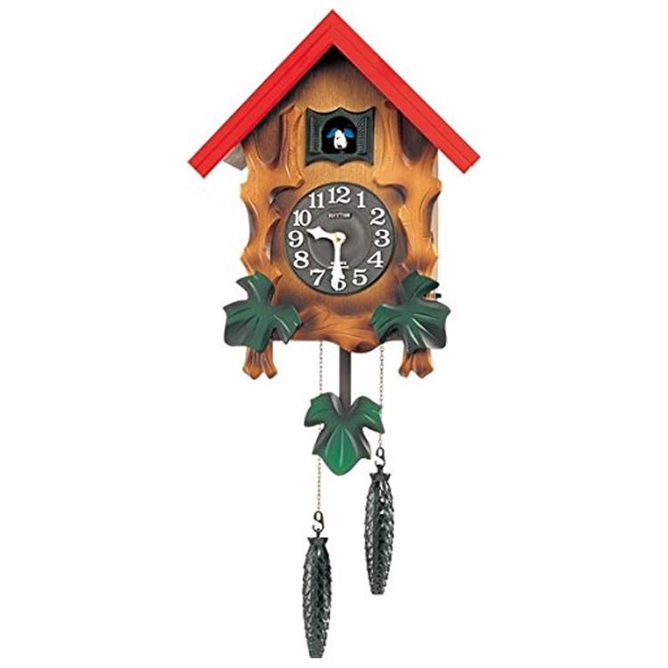 【送料無料・一部地域を除く】鳩時計 リズム時計 カッコーメルビルR 4MJ775RH06【カッコー時計 掛け時計 時計 壁掛け時計 おしゃれ モダン レトロ 北欧 ヨーロピアン 動物 アニマル シチズン[CITIZEN] 壁掛け時計 プレゼント 新生活 新築祝い】