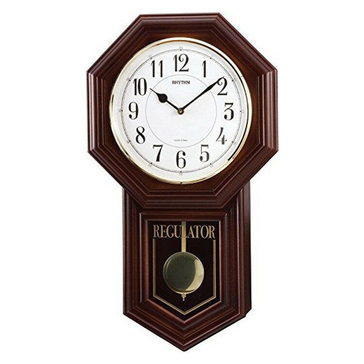 【送料無料・一部地域を除く】振り子時計 リズム時計 ベングラーR 4MJA03RH06【掛け時計 時計 壁掛け時計 振り子時計 おしゃれ シンプル モダン 和モダン 昭和レトロ 木製 木 プレゼント シチズン[CITIZEN] 誕生日 新生活 結婚祝い 新築祝い】