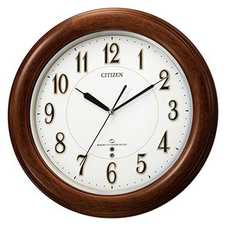 【送料無料・一部地域を除く】電波時計 シチズン[CITIZEN] スリーウェイブM824F 4MY824-N06【掛け時計 時計 壁掛け 壁掛け時計 おしゃれ シンプル 電波 木製 木 モダン 和モダン 壁時計 壁 インテリア 壁掛け時計 プレゼント 】