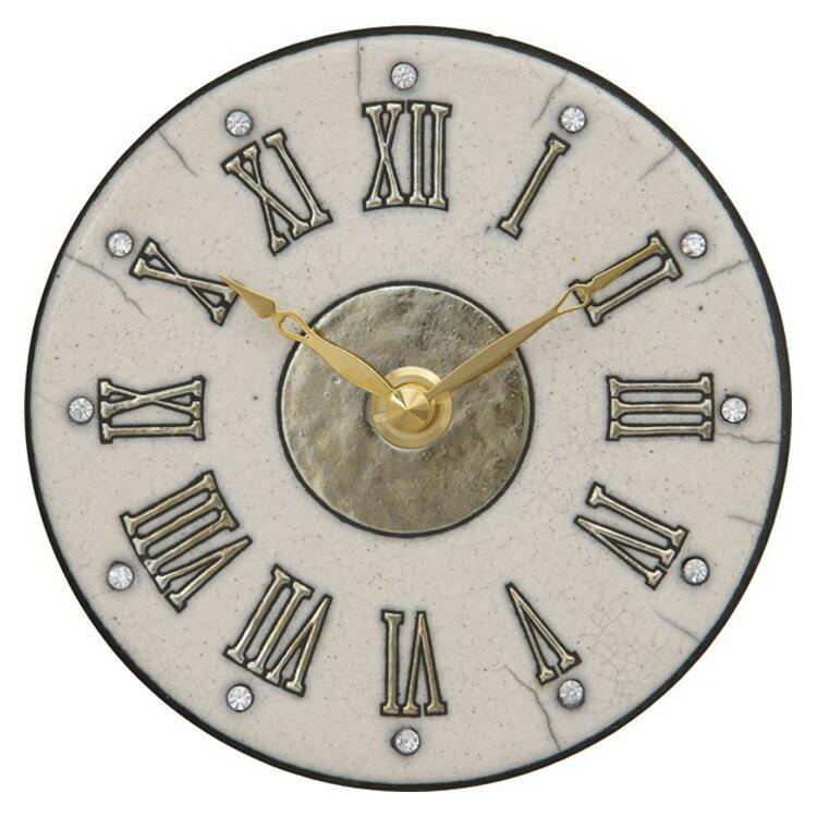【送料無料】掛け時計 ザッカレラZ183A【置き時計 置時計・掛け時計 掛け置き両用 卓上 おしゃれ 壁掛け時計 イタリア 陶器 アンティーク レトロ モダン アート リズム時計 手作り ハンドメイド ヨーロピアン インテリア ウォールクロック プレゼント オシャレ置き時計】