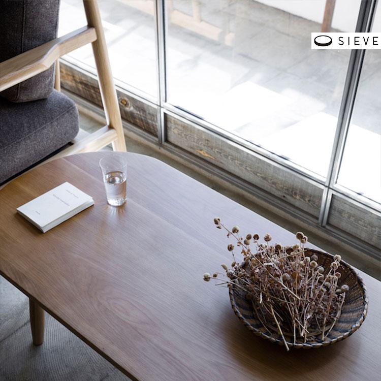 【送料無料 ポイント3倍】SIEVE シーヴ half center table ハーフ センターテーブル SVE-ct004【テーブル センターテーブル インテリア リビング 机 モダン ひとり暮らし ファミリー 新生活 北欧 おしゃれ家具 一人暮らし】