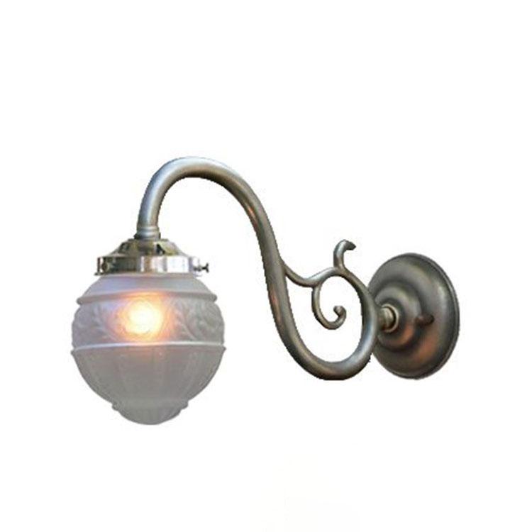 【送料無料】ウォールランプ 1灯 FC-W1560G 4825 FC-W1560A【間接照明 照明 照明器具 ブラケットライト ウォールライト 壁掛け照明 壁 E17 led 対応 玄関 階段 廊下 寝室 ガラス アンティーク レトロ 北欧 おしゃれ かわいい インテリア 新生活 引越し
