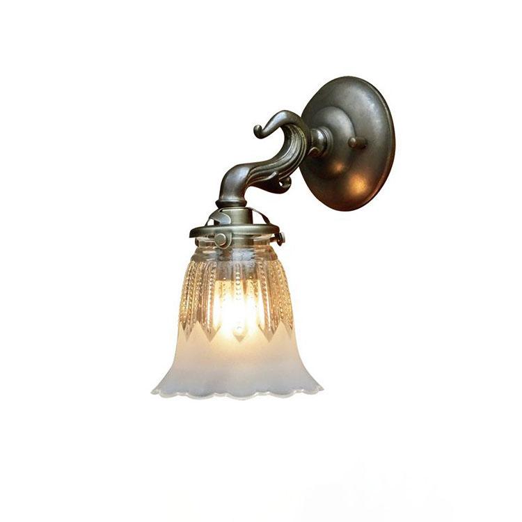 ウォールランプ 1灯 FC-W732G 1821 FC-W732A【間接照明 照明 照明器具 ブラケットライト ウォールライト 壁掛け照明 壁 E17 led 対応 玄関 階段 廊下 寝室 ガラス アンティーク レトロ 北欧 おしゃれ かわいい 可愛い インテリア 新生活 引越し】