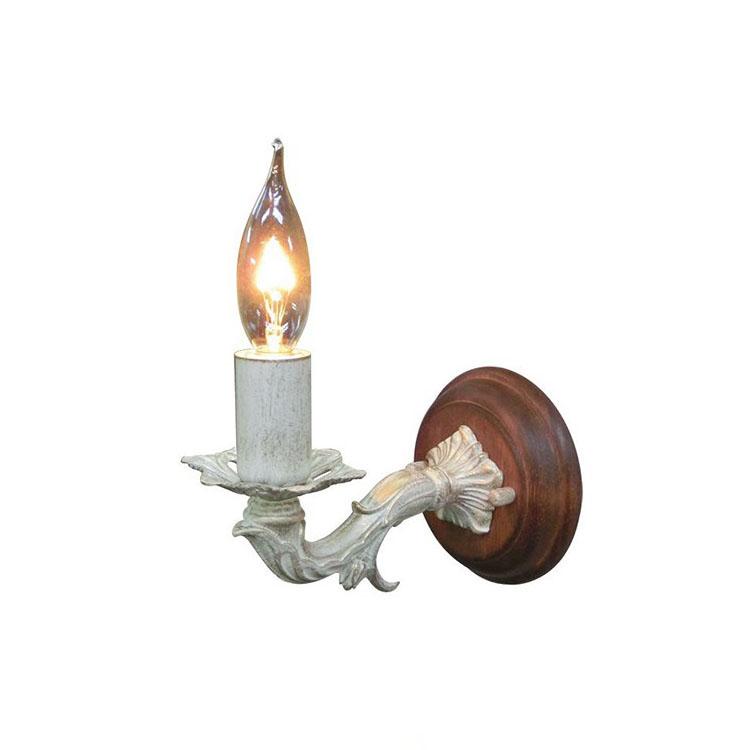【送料無料】ウォールランプ 1灯 FC-WW693R【間接照明 照明 照明器具 ブラケットライト ウォールライト 壁掛け照明 壁 E17 led 対応 玄関 階段 廊下 寝室 ろうそく アンティーク レトロ 北欧 おしゃれ かわいい インテリア 新生活 引越し】