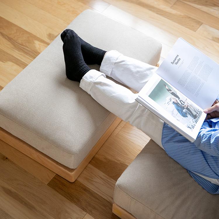エンケルソファ オットマン【enkel ソファ 足置き ソファー 椅子 イス スツール チェア チェアー 一人掛け ナチュラル シンプル カジュアル 布製 ファブリック 座面 木 木製 おしゃれ かわいい 北欧 一人暮らし】