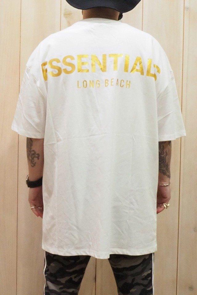 メンズ FOG ESSENTIALS エフオージー エッセンシャルズ LONG BEACH LIMITED BOXY LOGO TEE ロングビーチ限定ボクシーロゴTシャツ [WHITE] 正規通販
