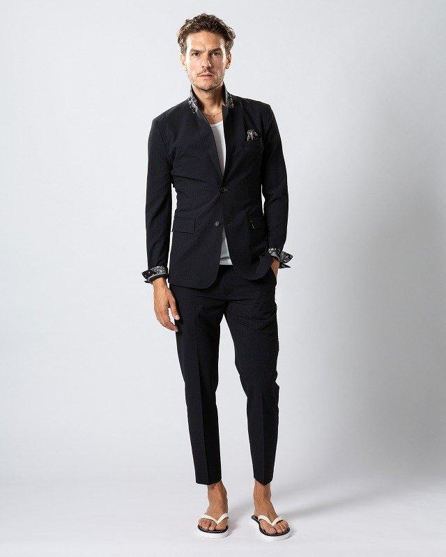 【20%OFFクーポン】メンズ wjk 2935 cf40ms 4way seersucker jacket & slacks [99/black] 2月上旬入荷予定 公式通販