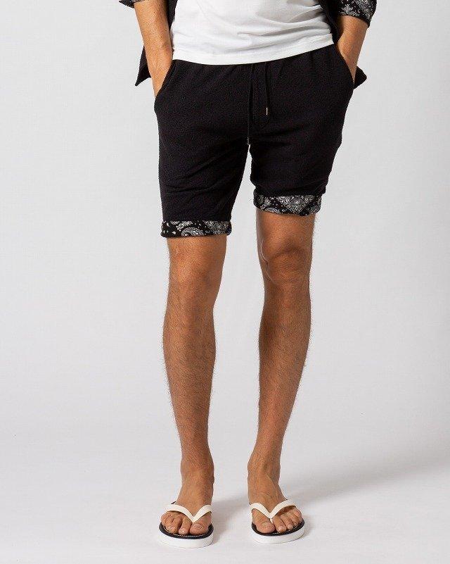 【期間限定50%OFF】メンズ wjk ダブルジェイケイ 5885 lj77m boucle summer shorts [99/black] 公式通販 ショーツ 短パン
