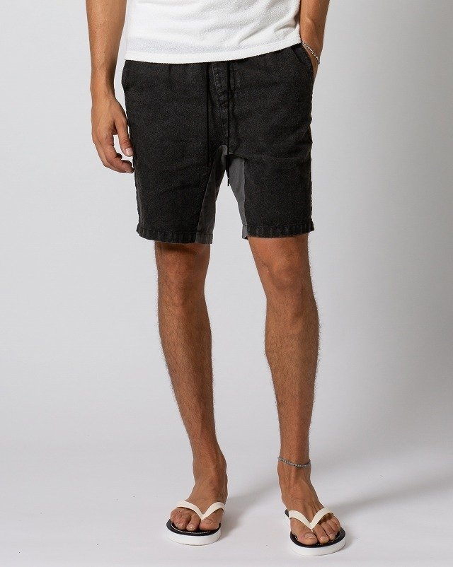 【20%OFFクーポン】【カードポイント5倍】メンズ wjk 5902 ln43m linen sporty shorts [97/chacoal] 3月上旬入荷予定 公式通販