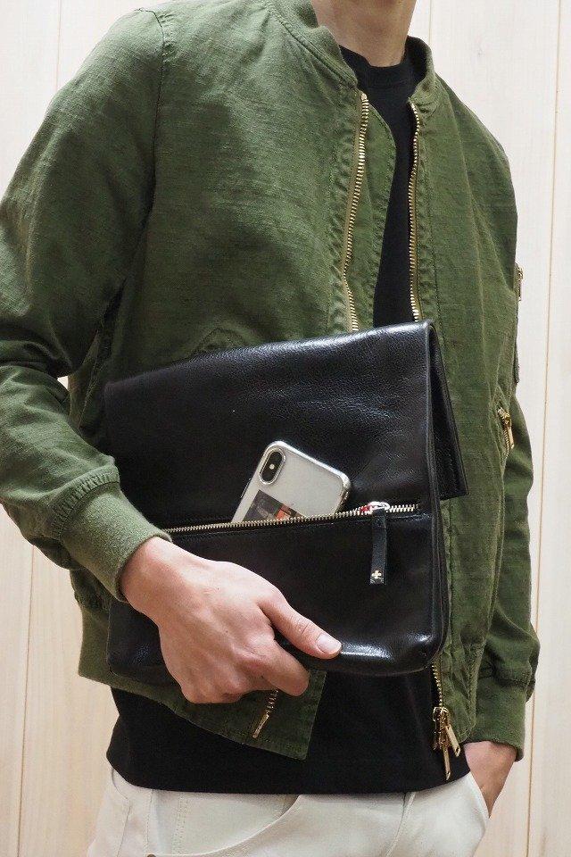 20%OFFクーポン メンズ PIUORO ピウオッロ B001-CLT01 MULTI CLUTCH BAG マルチクラッチバッグ [BLACK] 正規通販