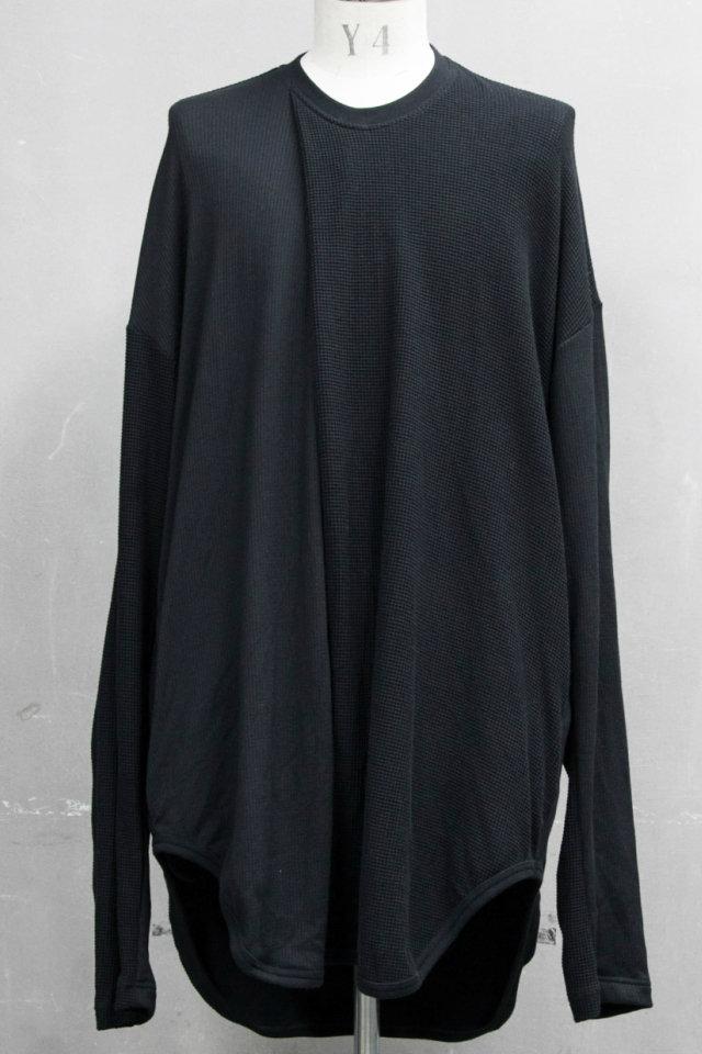 JULIUS ユリウス 687CUM7 2 FACE TUCK SHIRT 2フェイス タック Tシャツ [BLACK] 正規通販 メンズ 11月入荷予定