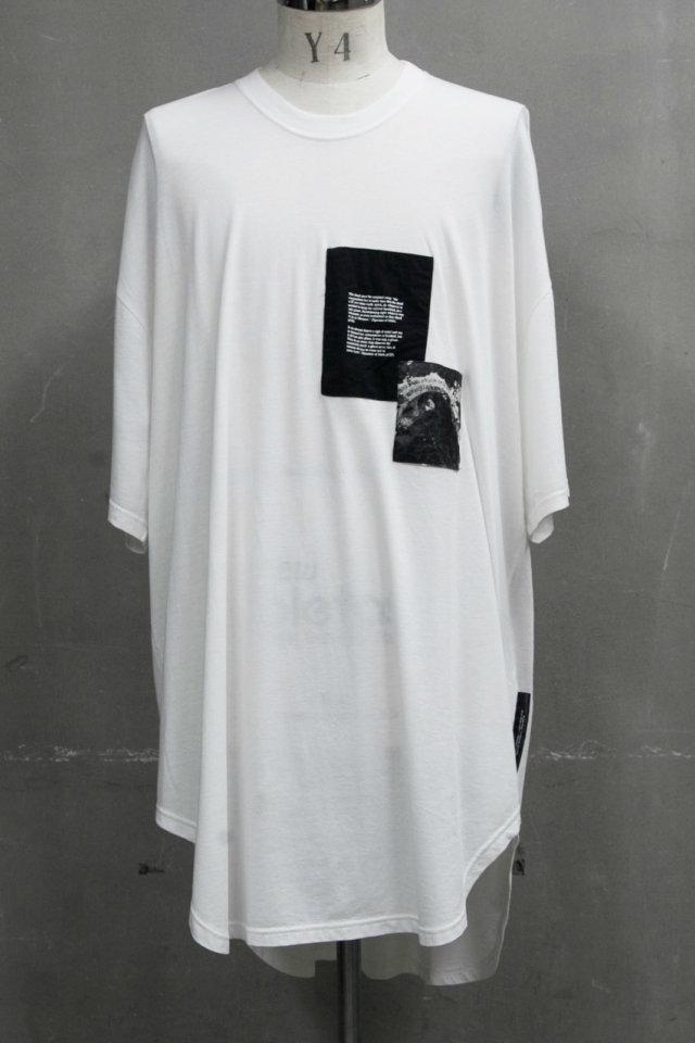 JULIUS ユリウス 687CPM1 PATCH PRINT OS T-SHIRT パッチ プリント Tシャツ [WHITE] 正規通販 メンズ 11月入荷予定