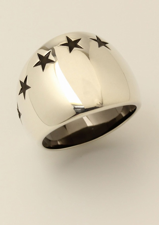 20%OFFクーポン IVXLCDM アイブイエックスエルシーディーエムIVX-R873 BIG SEVEN STAR RING [SV/BK] 【公式通販】【リング】【送料無料】