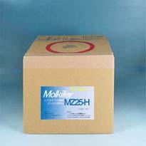 一般家庭、業務用兼用の5L入り。少し大き目の浴槽用 非塩素系の除菌剤「モルキラーMZ25H」です。「みっちゃんMZ25H」と同じ5L箱入版です。1回入れるだけで数日間は水の入れ替えなしで除菌効果持続され経済的です