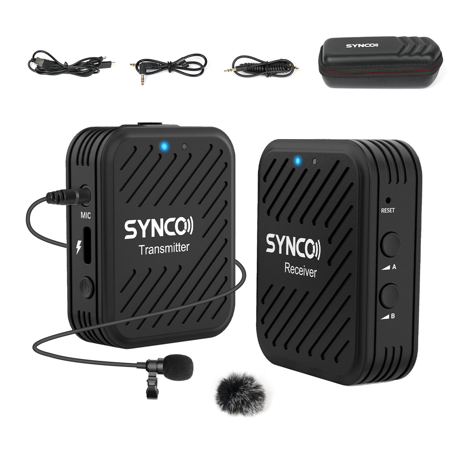ワイヤレスマイク カメラ外付けマイク 外部マイク スマホマイク 日本語説明書付き SYNCO G1 A1 2.4GHzワイヤレスピンマイク スマホ 卓越 ノートパソコン タブレット 技適マーク認証一年安心保証 70m伝送距離 外部ピンマイク付属 ローカット機能 ビデオカメラ等に対応 1台送信機 一眼レフ 内蔵マイク 1台受信機 保証