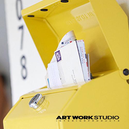 【全8色】ARTWORKSTUDIO(アートワークスタジオ):Mail box2 文字なし(メールボックス2:縦型・キーレス)スチール/レトロ/メールボックス/新居祝い/新築祝い/DIY/ガーデニング/鍵付き/郵便ポスト/郵便受け/ポスト/送料無料/TK-2079