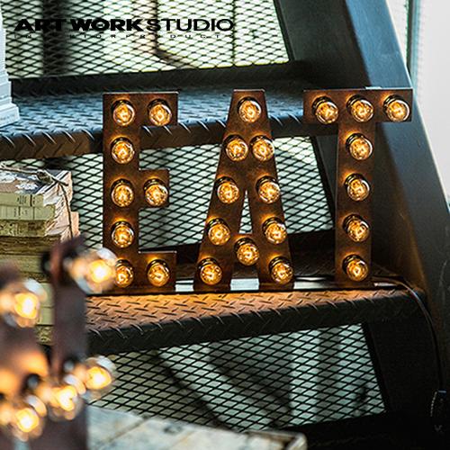 ARTWORKSTUDIO(アートワークスタジオ):Sign lamp EAT(サインランプ イートサイン)照明/間接照明/フロアーランプ/ライト/サインランプ/床置照明/壁掛照明/アイアン/タイポグラフィ/インテリア/送料無料/AW-0401V