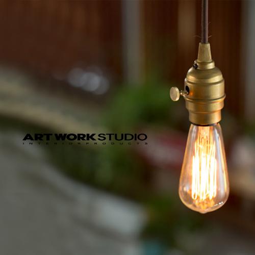 ARTWORKSTUDIO 真鍮のソケットと電球 ただそれだけで 存在感のある照明です 全2色 アートワークスタジオ :Laiton pendant レイトンペンダント 白熱球 クリアランスsale 期間限定 蛍光球 LED対応 照明 真鍮 インテリア ペンダントライト 送料無料 AW-0363Z リビング ライト 玄関 天井照明 間接照明 ダイニング ロータリースイッチ 待望