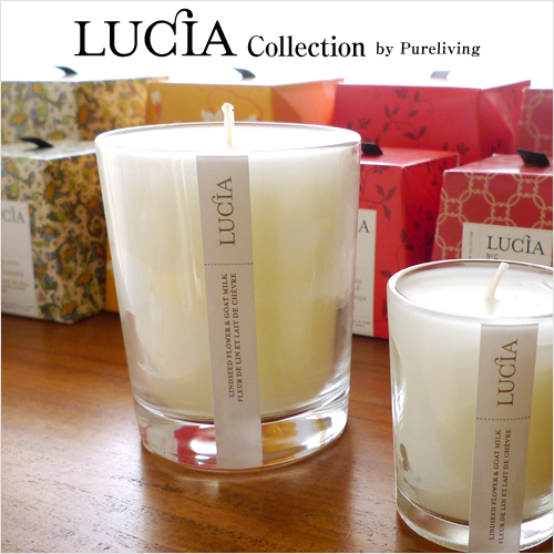 Superb LUCIA Candles: Regular Size ( 7.0 Oz, Burning Time 50 Hours )