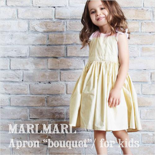 MARLMARL泥灰泥灰:围裙bouquet花束系列动机No.1-3(小孩尺寸100-110cm)围裙/送用餐围裙/生日祝贺/小孩/