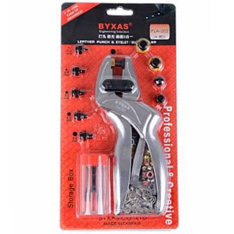!BYXAS マルチプライヤー ハトメパンチ レザーパンチ カシメ アイレットプライヤー カシメパンチ 多機能 BX-PLA202