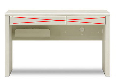 送料無料 ワークデスク 「ブレイン」 140×45サイズ