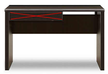 送料無料 ワークデスク 「ブレイン」 140×60サイズ