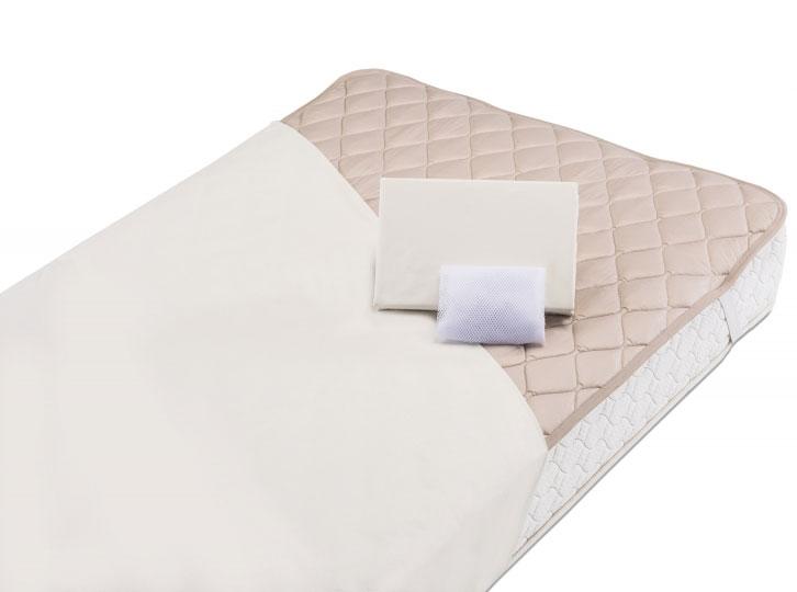 フランスベッド製寝装品3点パック グッドスリーププラス(羊毛3点パック)ワイドダブル