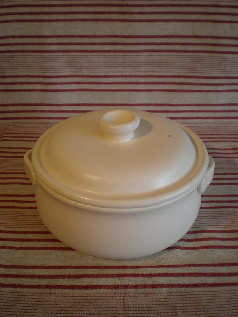 キャセロール 土鍋 Lサイズ/3~4人用 白 常滑焼 日本製