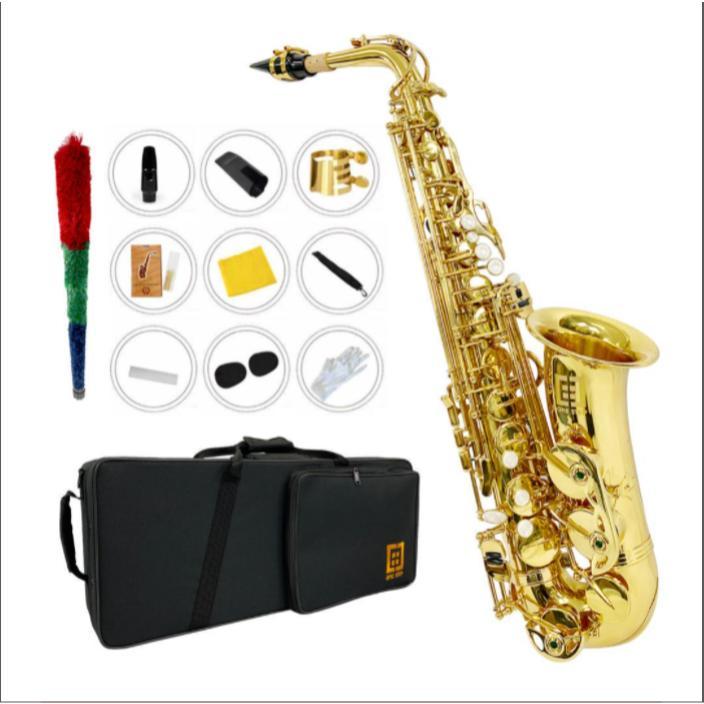 スーパーセール2000円OFF 海外輸入 アルトサックス11点セット E Saxophone ケース付き アルトサックス 安心の実績 高価 買取 強化中 ゴールドラッカー