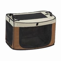 マルカン どこでもワンタッチケージ L ブラウン犬 ペット ケージ 折り畳み コンパクト アウトドア シートベルト固定可 送料無料 ピンク完売しました