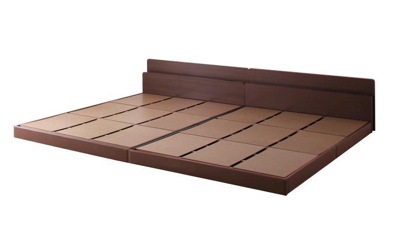 親子で寝られる棚 コンセント付き安全連結ベッド Familiebe ベッドフレームのみ ファミリーベ 超安い セットアップ ワイドK220