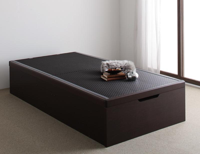 【キャッシュレス5%還元】お客様組立 美草・日本製_大容量畳跳ね上げベッド Komero コメロ シングル 深さラージ