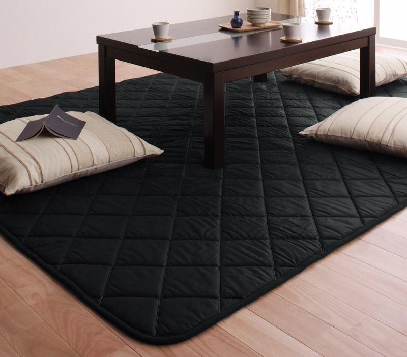 「黒」日本製ウレタン入りこたつ敷布団正方形サイズ