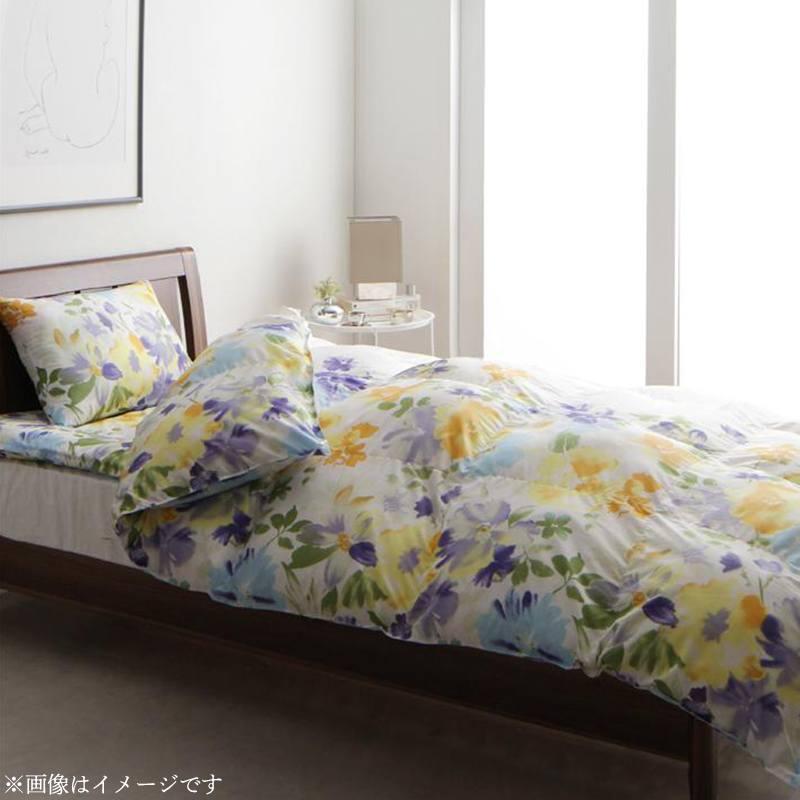 日本製 雲のようにふんわり軽くて羽毛よりも暖かい洗える寝具セット 水彩画風エレガントフラワーデザイン【Fiona】フィオーナ 掛布団 シングル